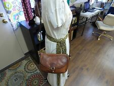 Authentic Vintage Oroton Genuine Distressed Leather Crossbody/ Shoulder Handbag""