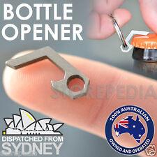 Beer Bottle Opener Titanium Mini Keychain Key Ring Small Tool Steel Keyring