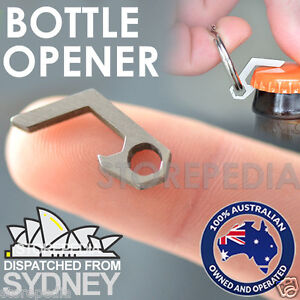 Beer Bottle Opener Mini Keychain Key Ring Titanium Alloy Stainless Pockets kit