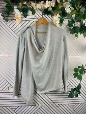 ALL SAINTS Drina Sweater Cardigan Asymmetric Zip Size 2 Wool