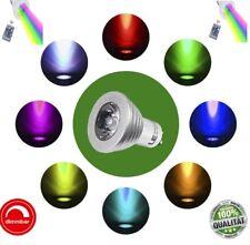 LED  GU10 3W RGB mit Fernbedienung 16 Farben Leuchtmittel Farbwechsel SpotLampe