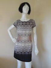 PORTMANS  BROWN AND WHITE AND BLACK  LOOSE  TOP OR DRESS   SIZE 10 TO 12