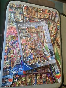 Ravensburger,1000 Jigsaw Puzzle, Fantasy Toy Shop by Aimee Stewart. Complete.