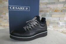 Cesare P Gr 10 44 Paciotti Stiefeletten Schnürschuhe Schuhe schwarz NEU UVP219€