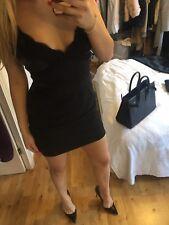 Vestido de Encaje Dolce & Gabbana D&G Camisola Negro Uk8 It40 Eu36 S
