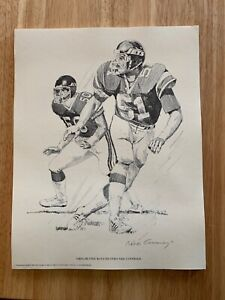 Lot Of 25 GREG BUTTLE NY JETS ORIGINAL 1981 SHELL OIL 11X14 LITHOGRAPH PRINTS
