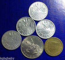 BULK AUSTRIA OSTERREICH 6 COINS ~ (OC13-9)