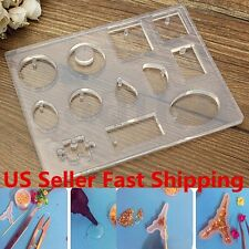 12 cell Cabochon Silicone Mold Mould Epoxy Resin Jewelry Pendant Necklace Making