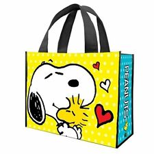 Peanuts Snoopy Hugging Woodstock Large Recycled Shopper Tote Bag, NEW UNUSED