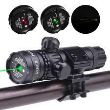 Green/Red Dot Laser Sight Rifle Gun Scope + Rail + Barrel Mount Pressure Switch