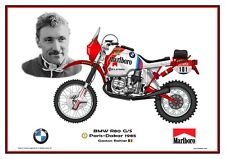 Greetings card Marlboro BMW R80 G/S 1985 #101 Gaston Rahier (BEL) Version 1