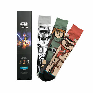 STANCE MENS BLACK RETURN OF THE JEDI STAR WARS GIFT SET CREW SOCKS