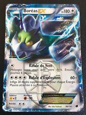Carte Pokemon BOREAS 98/116 Holo EX Ultra Rare Noir et Blanc Française NEUF