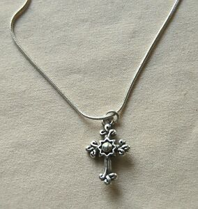 New BRIGHTON silver Sanctum Cross GLORY charm custom necklace FREE SHIPPING !!