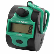 Office Table Handheld 5 Digit Numbers LCD Display Tally Click Counter Seagreen