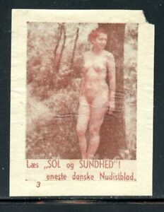 Denmark Germany Nude Women Poster Stamps Nudist Colony Art Graphics