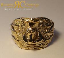 Unisex/Ladies  Highly Polished Horse Saddle Jewellers Bronze Ring 12.4 grams