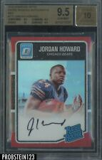 2016 Donruss Optic Red Prism Jordan Howard RC Rookie AUTO 25/50 BGS 9.5 w/ 10