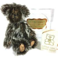 1995 Wee Little Gem miniature teddy bear Zev mohair Chu Ming Wu 64/3000 N