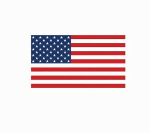 American Flag America USA Full Color Decal Sticker - Free Shipping