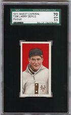 Rare 1909-11 T206 Larry Doyle Portrait Sweet Caporal 350-460 SGC 70 / 5.5 EX +