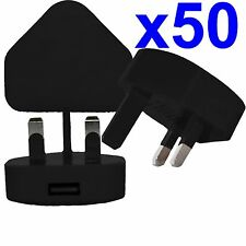 50 x 100% CE USB UK AC WALL PLUG CHARGER ADAPTER FOR iPhone iPod Samsung HTC