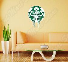 "Starbucks Coffee Naked Girl Funny Logo Wall Sticker Room Interior Decor 18""X25"""