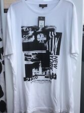 Men's New Look White NY College T Shirt Size XL ** Brand New **