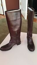 AUTHENTIC PRADA Brown Riding Boots -Size 37.5