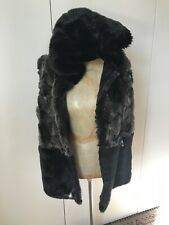 Ladies Faux Fur Vest With Removable Hood - Size 10 To 12