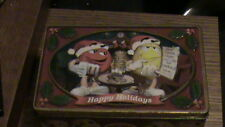 M & M Cookie Tin (Happy Holidays) Removable Cover