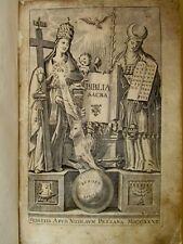 Latino Liturgia Storia - BIBLIA SACRA - Pezzana 1727 Bibbia Figurata Incisioni
