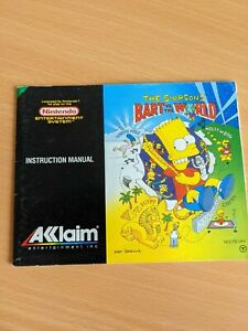 The Simpsons Bart vs The World | Nintendo NES PAL UKV MANUAL ONLY