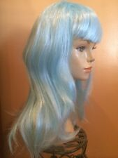 LIGHT BABY BLUE LONG STRAIGHT WIG~ADULT HALLOWEEN COSTUME~MERMAID~KATY PERRY
