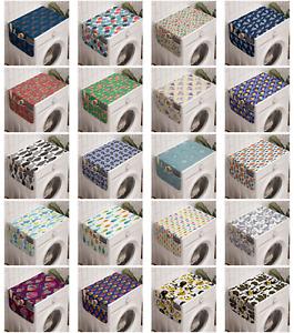 Ambesonne Fish Washing Machine Organizer Cover for Washer Dryer