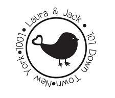 Custom Personalized business return address stamp bird