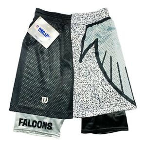 Vtg Rare NFL Atlanta Falcons Wilson Pro Line All Over Print Shorts. Mens Small