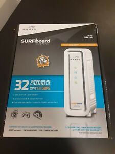 ARRIS SURFboard (32x8) Docsis 3.0 Cable Modem SB6190 WHITE