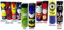 10 pcs Character Heroes Designs Bundle 18650 Lithium Battery Heat Shrink Wraps