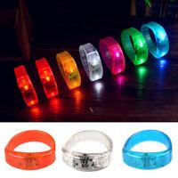 Voice Activated Sound Control LED Flashing Bracelet Bangle Glowing Wristband