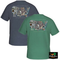 NEW DRAKE WATERFOWL SYSTEMS FLYWAY SPECIES MAP LOGO S/S T-SHIRT TEE