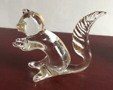 """GLASS Squirrel with Gold coloured """"flecks"""" - Excellent Condition"""