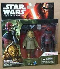 Star Wars The Force Awakens Sidon Ithano and First Mate Quiggold Action Figures