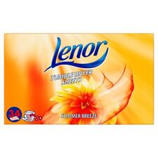 Lenor Summer Breeze Tumble Dryer Sheets, 34 Sheets, Uplifting Outdoor Freshness