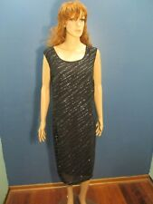 Size 22W black SILVER SPARKLE GLITTER ZIP UP dress by ANOTHER THYME