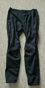 EUC Craft Men's Fleece Lined Cycling Pants Color Black Size 2XL Zippered Leg