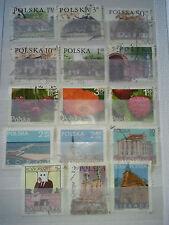 lot timbres pologne récent oblitérés