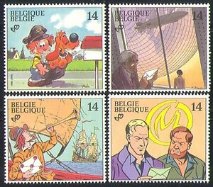 Belgium 1991 Ships/Dog/Zeppelin/Animation 4v n32193