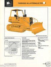 Equipment Brochure - John Deere - 750B 6505 All Hydraulic Bull Dozer1988 (EB412)
