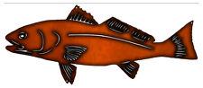 Vintage Antique Style Metal Sign Redfish Cutout Faux Copper 10x23